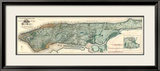 Sanitary and Topographical Map of the City and Island of New York, c.1865 Gerahmter Giclée-Druck von Egbert L. Viele