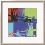 Brooklyn Bridge, ca. 1983 (Orange, Blue, Lime) Affiches van Andy Warhol