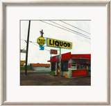 Route 66: West End Liquor Affiches par Ayline Olukman