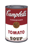 Campbell's suppe I:  Tomat, ca. 1968, Campbell's Soup I: Tomato, c.1968 Giclée-tryk af Andy Warhol