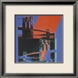 Brooklyn Bridge, c.1983 (pink, red, blue) Pósters por Andy Warhol
