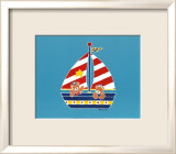 Bear in a Sailboat Poster by Shelly Rasche