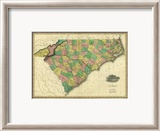 Map of North and South Carolina, c.1823 Framed Giclee Print by Henry S. Tanner