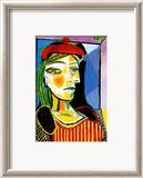 Girl with Red Beret Posters par Pablo Picasso