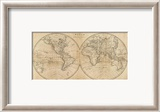 The World, c.1825 Gerahmter Gicl&#233;e-Druck von Mathew Carey
