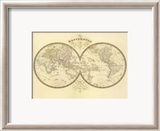 Mappemonde, c.1849 Framed Giclee Print by Eugene Andriveau-goujon