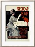 Red Cat Bar Framed Giclee Print by Georges Rogier