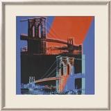 Brooklyn Bridge, c.1983 (pink, red, blue) Lámina por Andy Warhol