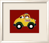Dogs in Taxi II Prints by Shelly Rasche
