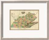 Kentucky, Tennessee and Part of Illinois, c.1823 Framed Giclee Print by Henry S. Tanner