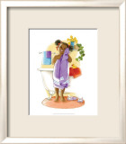 Bath Time Giggles (Girl) Poster by Sylvia Walker