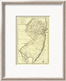 State of New Jersey, c.1795 Gerahmter Gicl&#233;e-Druck von Mathew Carey