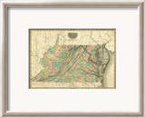 Virginia, Maryland and Delaware, c.1823 Framed Giclee Print by Henry S. Tanner