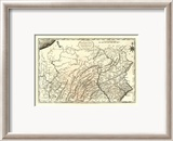 State of Pennsylvania, c.1795 Gerahmter Gicl&#233;e-Druck von Mathew Carey