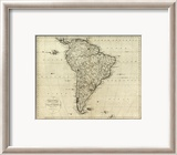 Map of South America, c.1796 Framed Giclee Print by John Reid