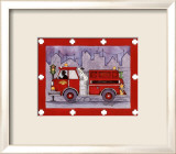 Firetruck Prints by Marnie Bishop Elmer