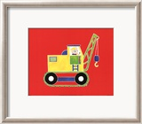 Cat in a Crane Print by Shelly Rasche