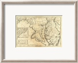 State of Maryland, c.1795 Gerahmter Gicl&#233;e-Druck von Mathew Carey