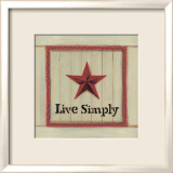 Live Simply Poster by Karen Tribett