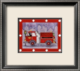 Firetruck Print by Marnie Bishop Elmer