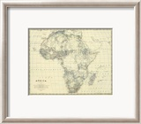 Africa, c.1861 Estampe encadr&#233;e par Alexander Keith Johnston