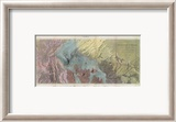 Geological Map, Rio Colorado of the West, c.1858 Framed Giclee Print by J. C. Ives