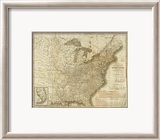 View of the Whole Internal Navigation of the United States, c.1830 Framed Giclee Print by Henry S. Tanner