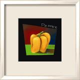 Gelber Paprika Kunstdrucke von Mary Naylor