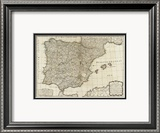 New Map of the Kingdoms of Spain and Portugal, c.1790 Framed Giclee Print by Thomas Kitchin