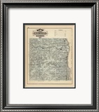 Map of Houston County, Minnesota, c.1874 Framed Giclee Print by A. T. Andreas