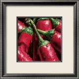 Hot Peppers Print by Alma'ch