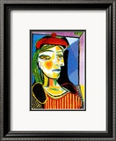 Girl with Red Beret Affiches par Pablo Picasso