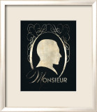 Monsieur Silhouette Posters by Lisa Vincent