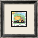 Dump Truck Prints by Lila Rose Kennedy