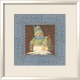 Blue Tin Snowman I Posters by Jo Moulton