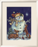 Jolly Snowman Affiche par Donna Race
