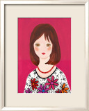 Girl in a Floral Dress with Nice Smile Prints by Hiromi Taguchi