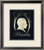 Monsieur Silhouette Posters par Lisa Vincent
