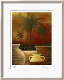 Sunset Palms I Limited Edition Framed Print by Georgia Rene