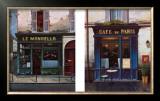Parisian Bistros Prints by Yuri Dvornik
