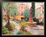 Place Mougins, 1989 Print by Paul Riley