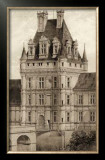 Sepia Chateaux VIII Prints by Victor Petit
