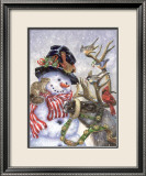 Frosty, Prance And Friends Print by Donna Race