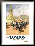 Visit London, BR Poster, 1950s Framed Giclee Print by Gordon Nicoll