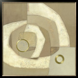 Gold Circle Prints by Jodi Jones