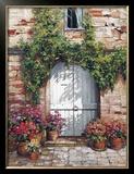 Wooden Doorway, Siena Art by Roger Duvall