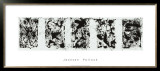 Black and White Polyptych Print by Jackson Pollock