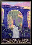 Furka Oberalp Rail Way Train Framed Giclee Print