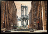 View to the Manhattan Bridge, New York City Posters by Matthew Daniels