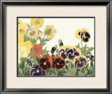 Japanese Flower Garden V Print by Konan Tanigami